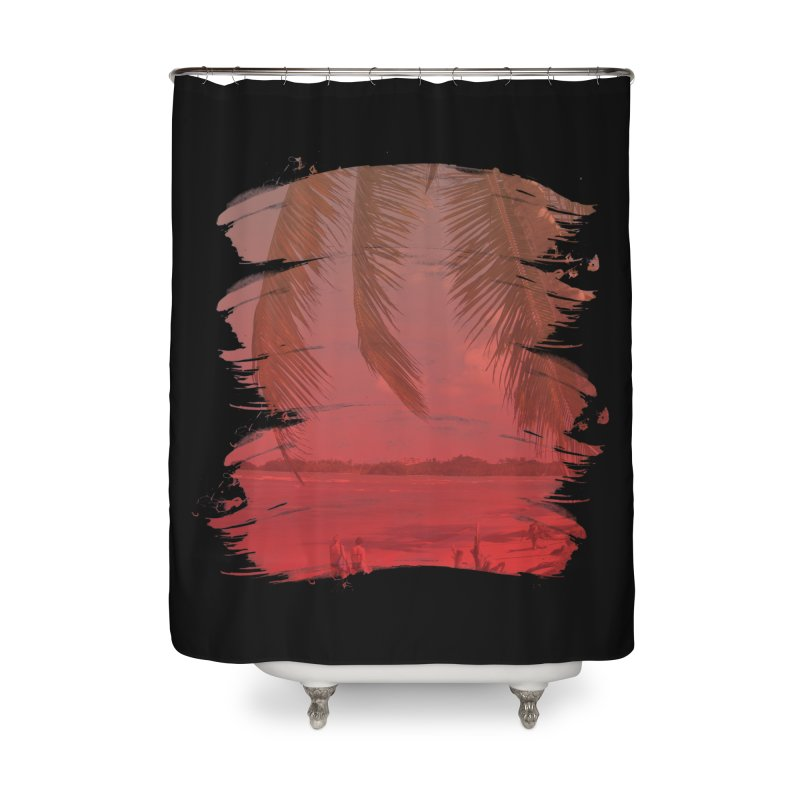 Summer is Coming Home Shower Curtain by nvil's Artist Shop