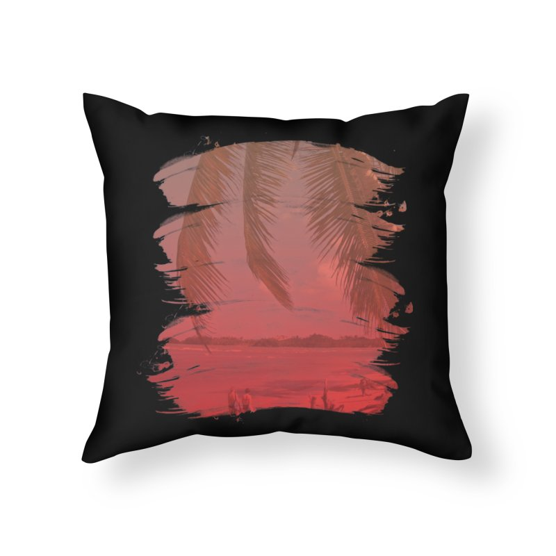 Summer is Coming Home Throw Pillow by nvil's Artist Shop
