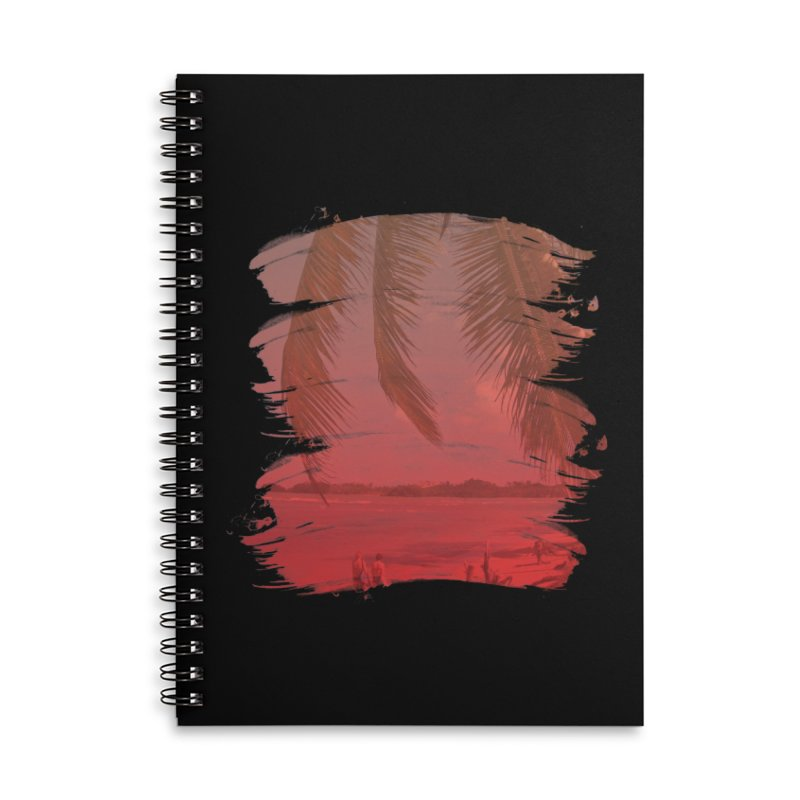 Summer is Coming Accessories Lined Spiral Notebook by nvil's Artist Shop