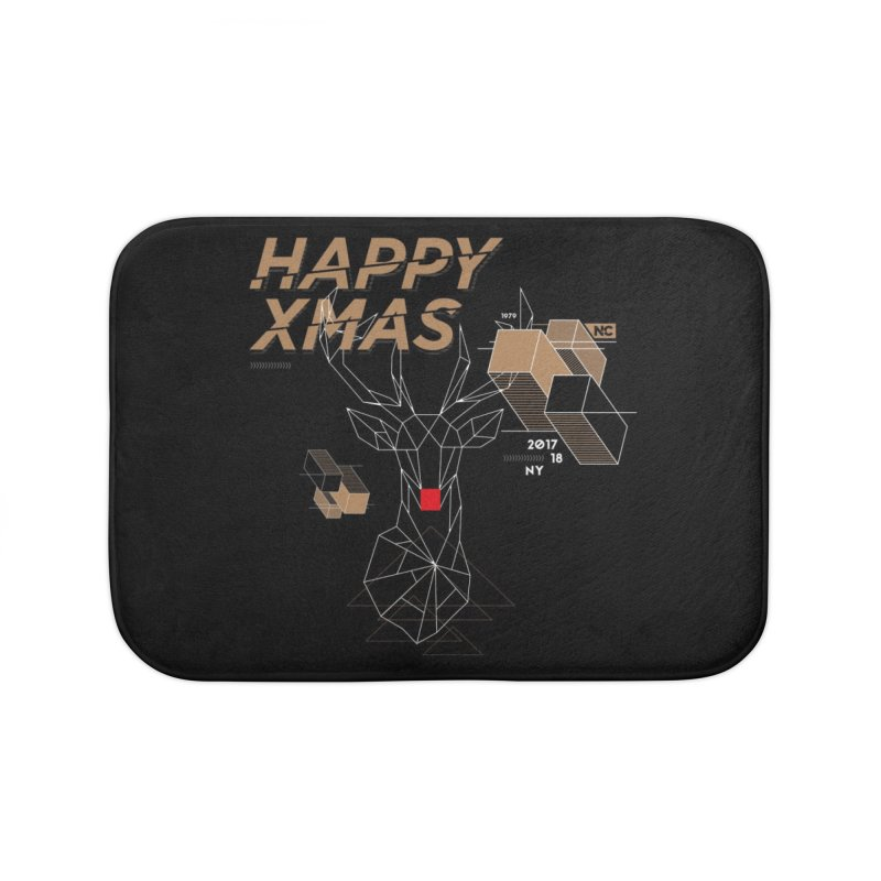 Xmas T-shirt Home Bath Mat by nvil's Artist Shop
