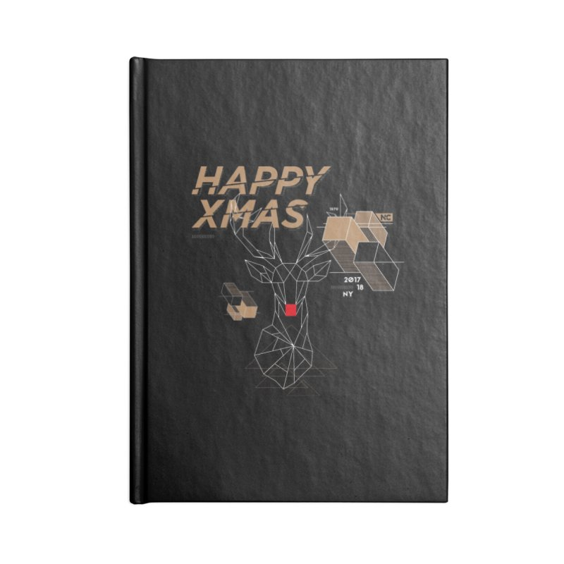 Xmas T-shirt Accessories Lined Journal Notebook by nvil's Artist Shop