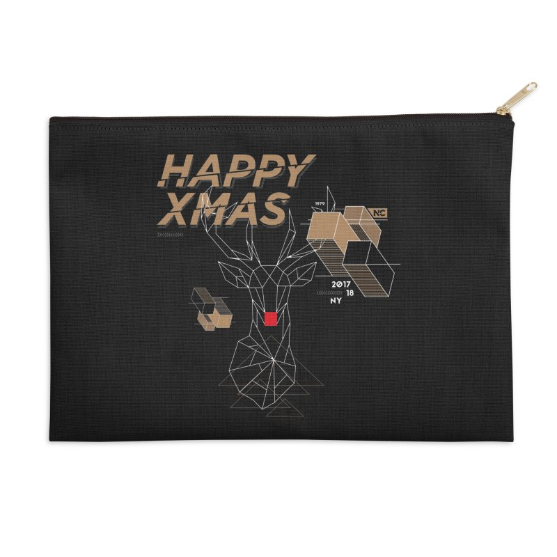 Xmas T-shirt Accessories Zip Pouch by nvil's Artist Shop