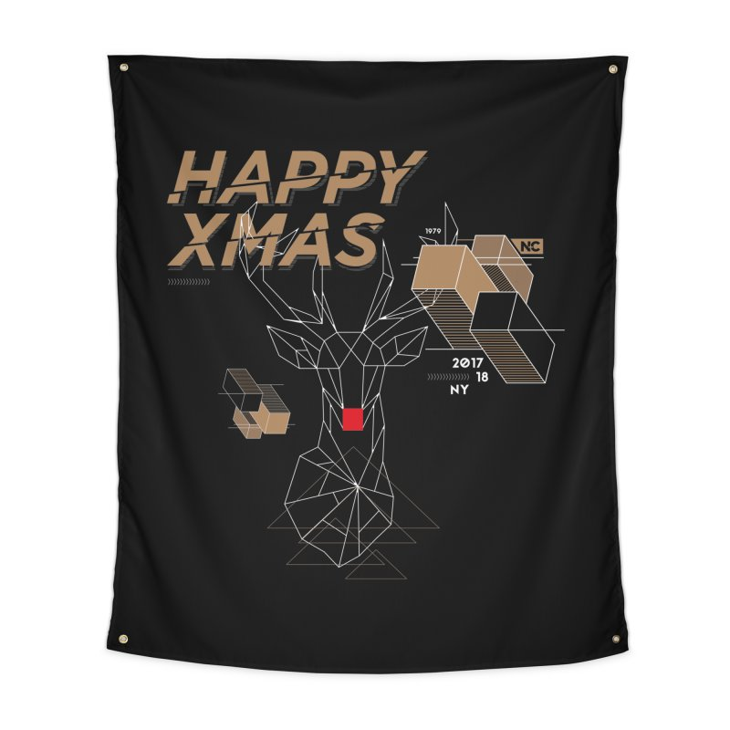 Xmas T-shirt Home Tapestry by nvil's Artist Shop