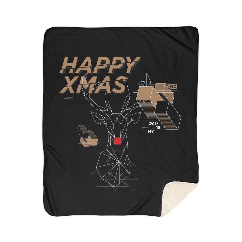 Xmas T-shirt Home Sherpa Blanket Blanket by nvil's Artist Shop