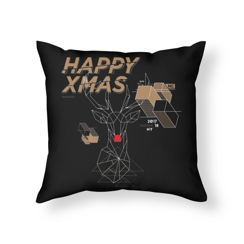 Xmas T-shirt Home Throw Pillow by nvil's Artist Shop