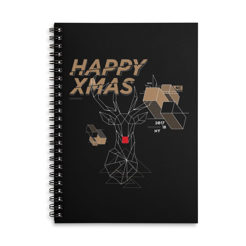 Xmas T-shirt Accessories Lined Spiral Notebook by nvil's Artist Shop