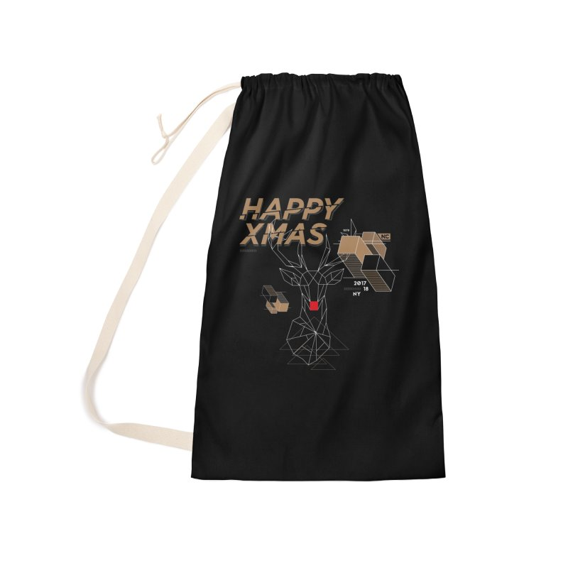 Xmas T-shirt Accessories Laundry Bag Bag by nvil's Artist Shop