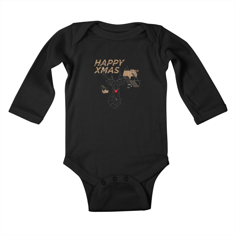 Xmas T-shirt Kids Baby Longsleeve Bodysuit by nvil's Artist Shop