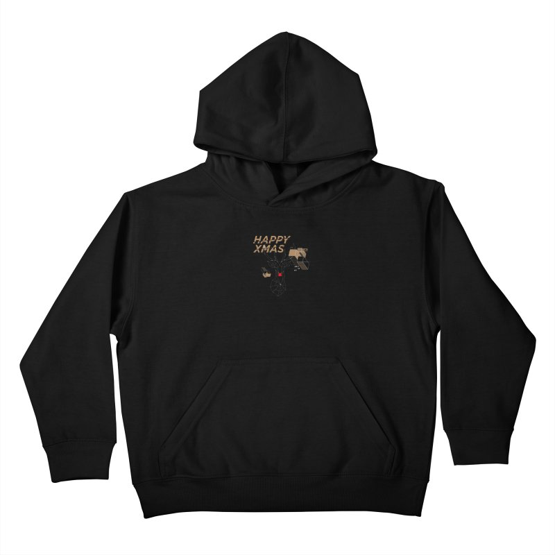 Xmas T-shirt Kids Pullover Hoody by nvil's Artist Shop