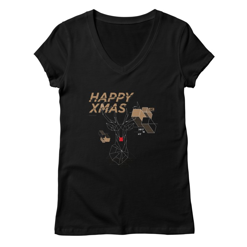 Xmas T-shirt Women's Regular V-Neck by nvil's Artist Shop