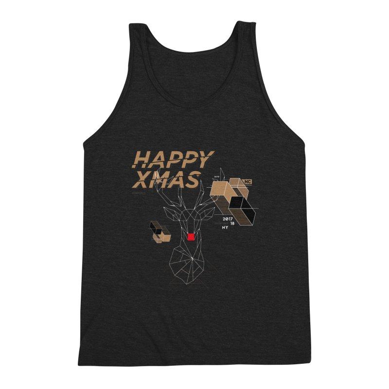 Xmas T-shirt Men's Triblend Tank by nvil's Artist Shop