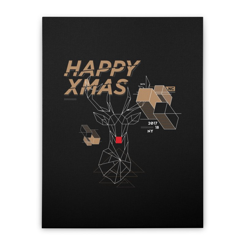 Xmas T-shirt Home Stretched Canvas by nvil's Artist Shop