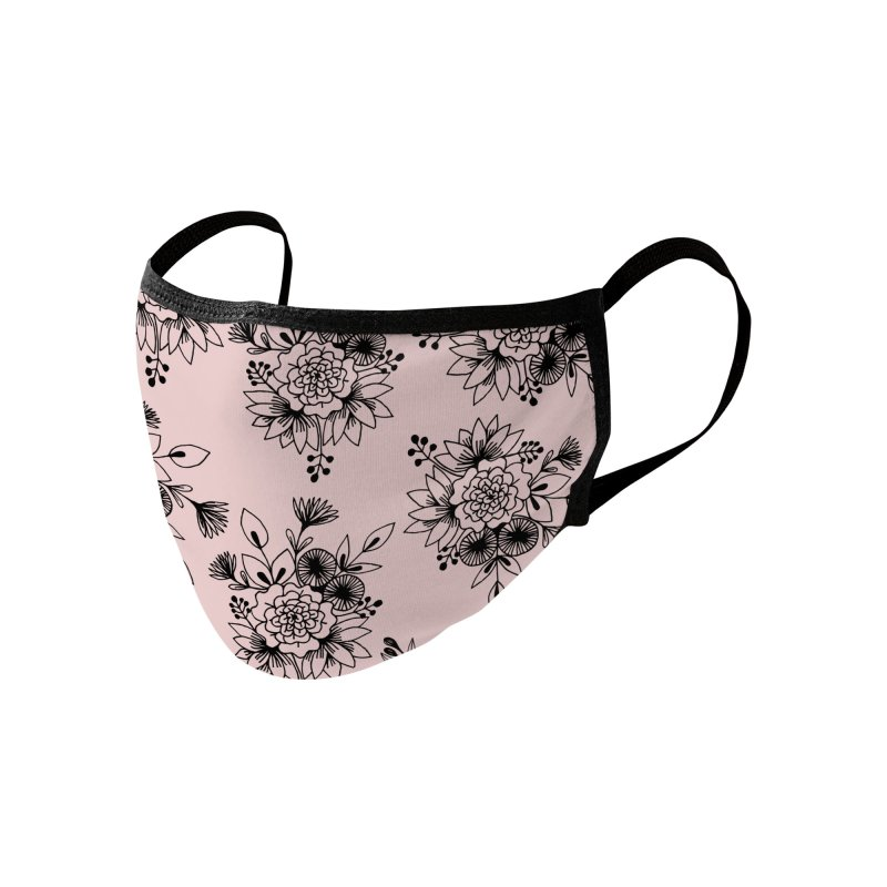 Floral bouquet pink mask Accessories Face Mask by Floresta moon