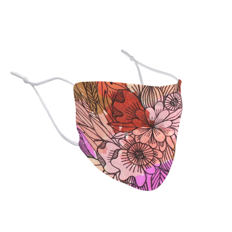 Summer flowers warm colors Accessories Face Mask by Floresta moon