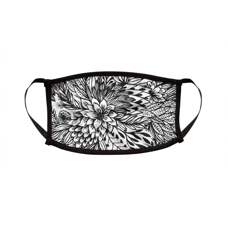 Flowers pattern face mask Accessories Face Mask by Floresta moon