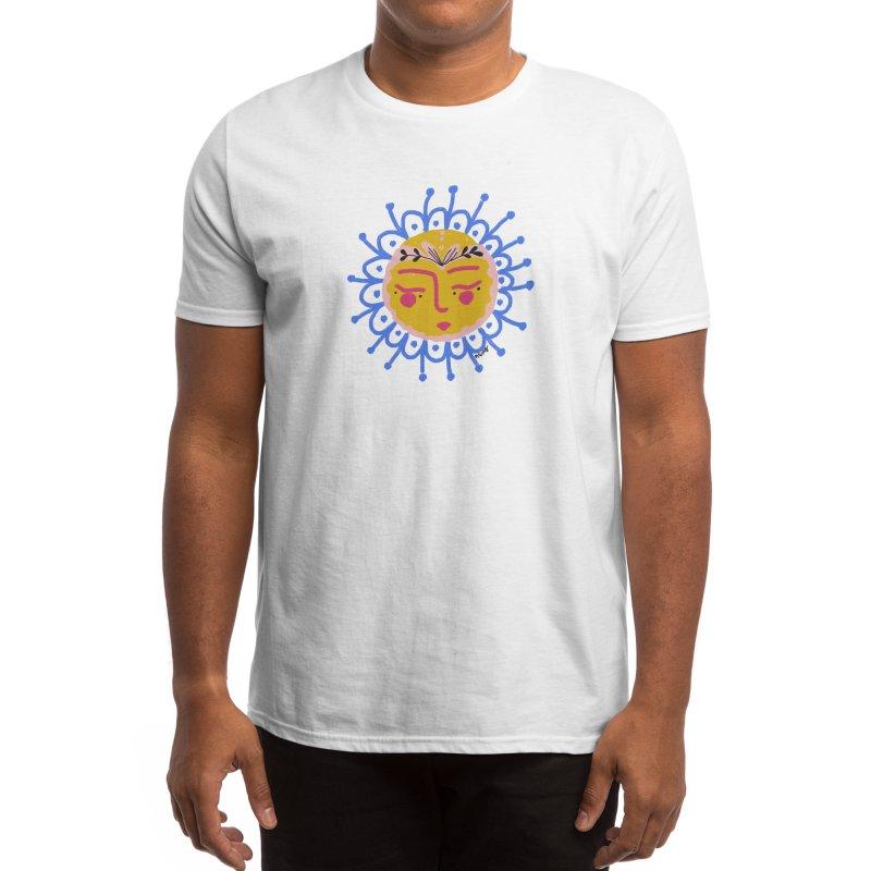 Little Sun Face Men's T-Shirt by Floresta moon