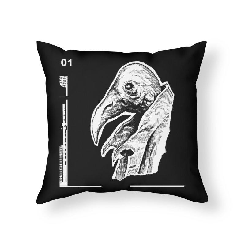 The Bird Home Throw Pillow by N X O E E D