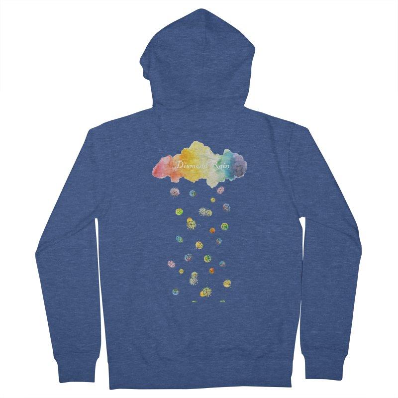 diamond rain Men's Zip-Up Hoody by nyc917's Artist Shop