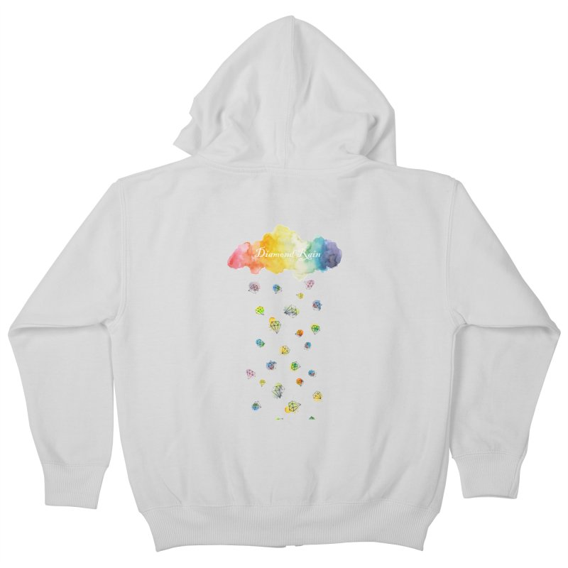 diamond rain Kids Zip-Up Hoody by nyc917's Artist Shop