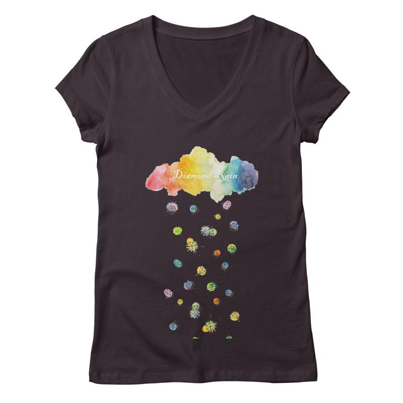 diamond rain Women's V-Neck by nyc917's Artist Shop