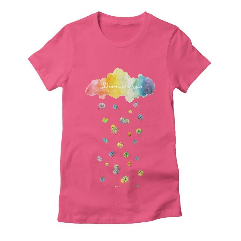 diamond rain Women's Fitted T-Shirt by nyc917's Artist Shop