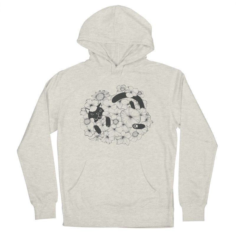 flower and cat Women's Pullover Hoody by nyc917's Artist Shop