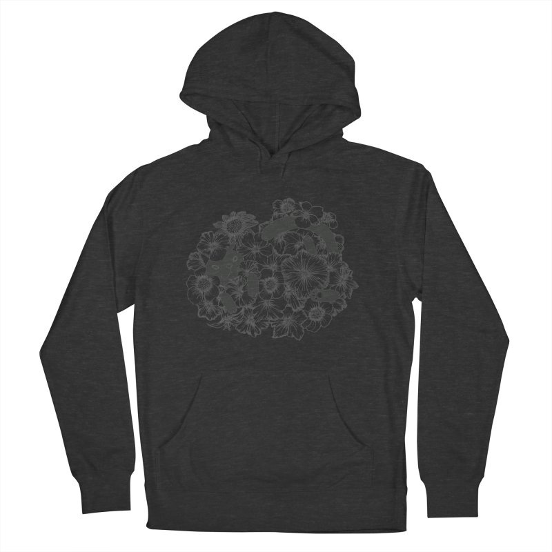 flower and cat Men's Pullover Hoody by nyc917's Artist Shop