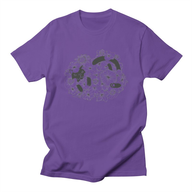 flower and cat Men's T-Shirt by nyc917's Artist Shop