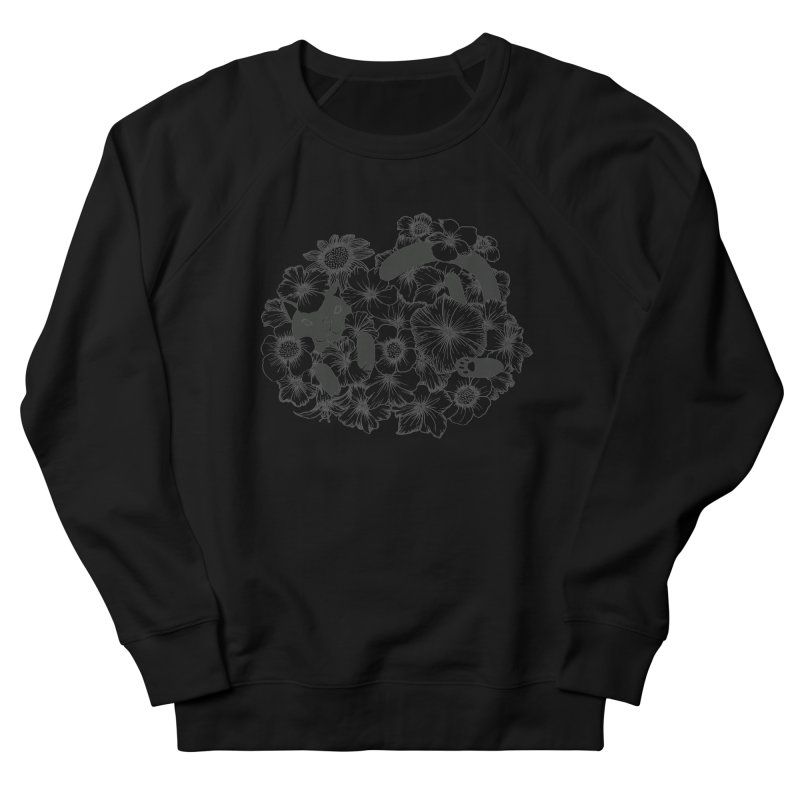 flower and cat Women's Sweatshirt by nyc917's Artist Shop