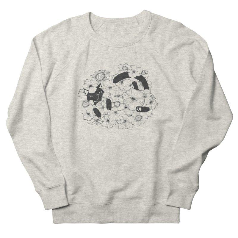 flower and cat Men's Sweatshirt by nyc917's Artist Shop