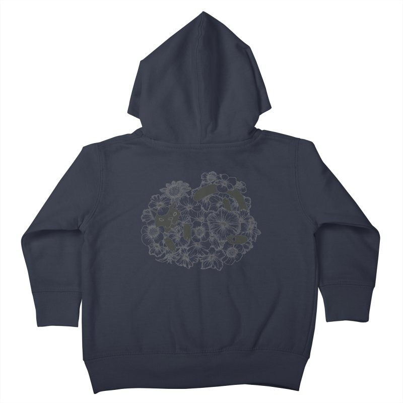 flower and cat Kids Toddler Zip-Up Hoody by nyc917's Artist Shop