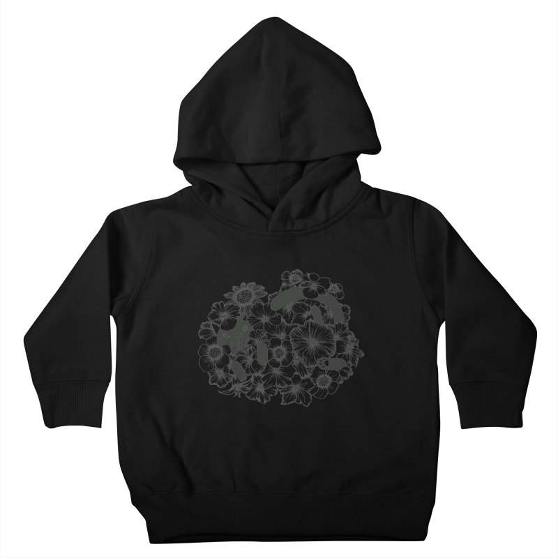 flower and cat Kids Toddler Pullover Hoody by nyc917's Artist Shop