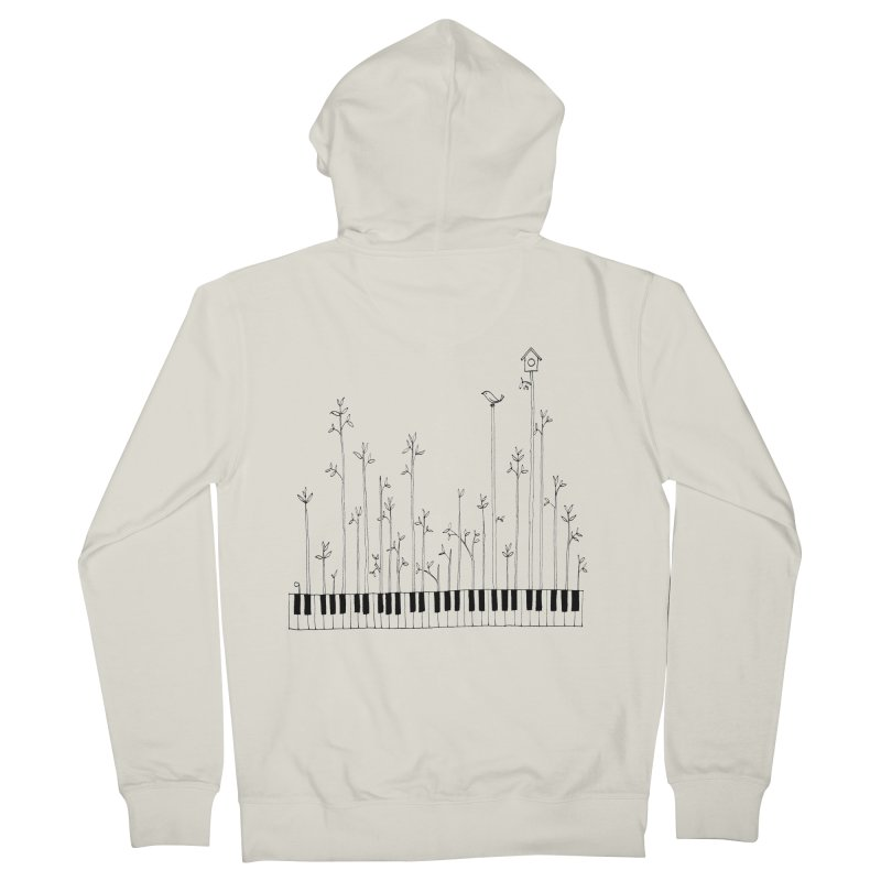 let the music grow Men's Zip-Up Hoody by nyc917's Artist Shop