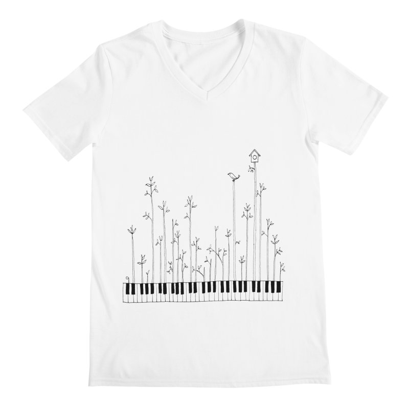 let the music grow Men's V-Neck by nyc917's Artist Shop