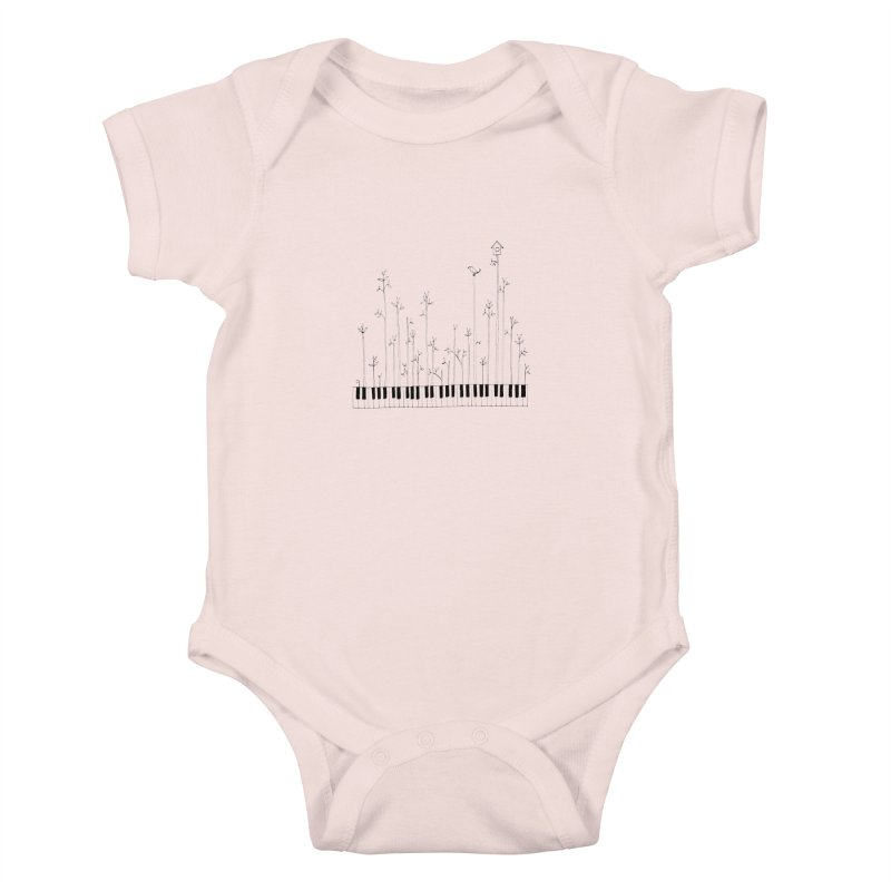 let the music grow Kids Baby Bodysuit by nyc917's Artist Shop