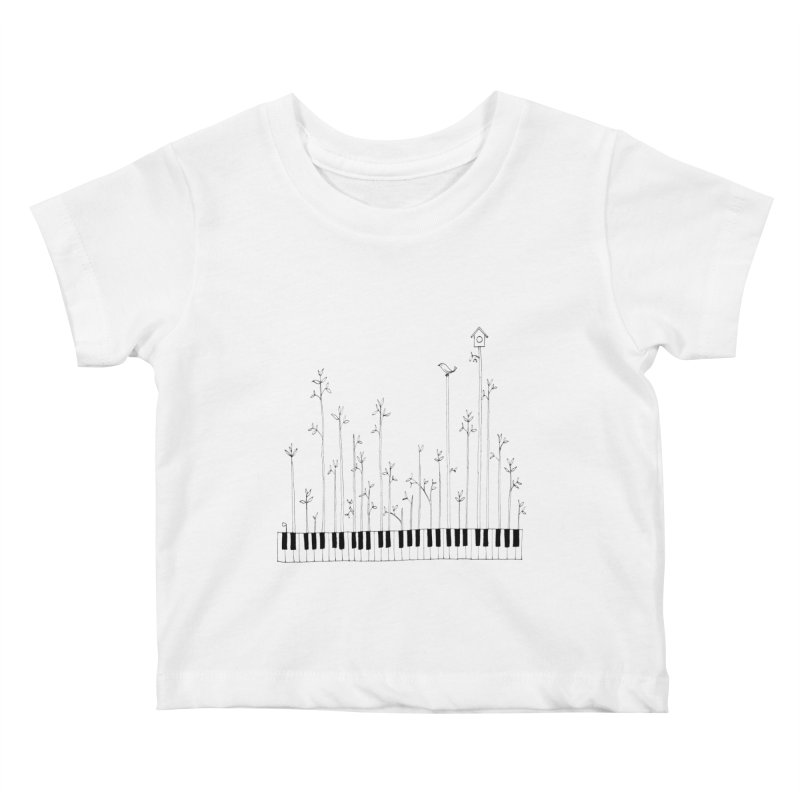 let the music grow Kids Baby T-Shirt by nyc917's Artist Shop