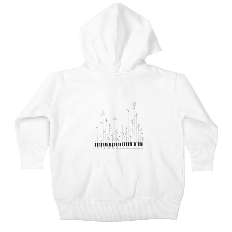 let the music grow Kids Baby Zip-Up Hoody by nyc917's Artist Shop
