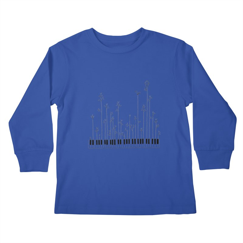 let the music grow Kids Longsleeve T-Shirt by nyc917's Artist Shop