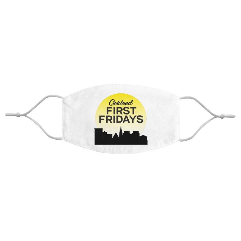 Oakland First Fridays (Sundown Logo) Accessories Face Mask by Oakland First Fridays Store
