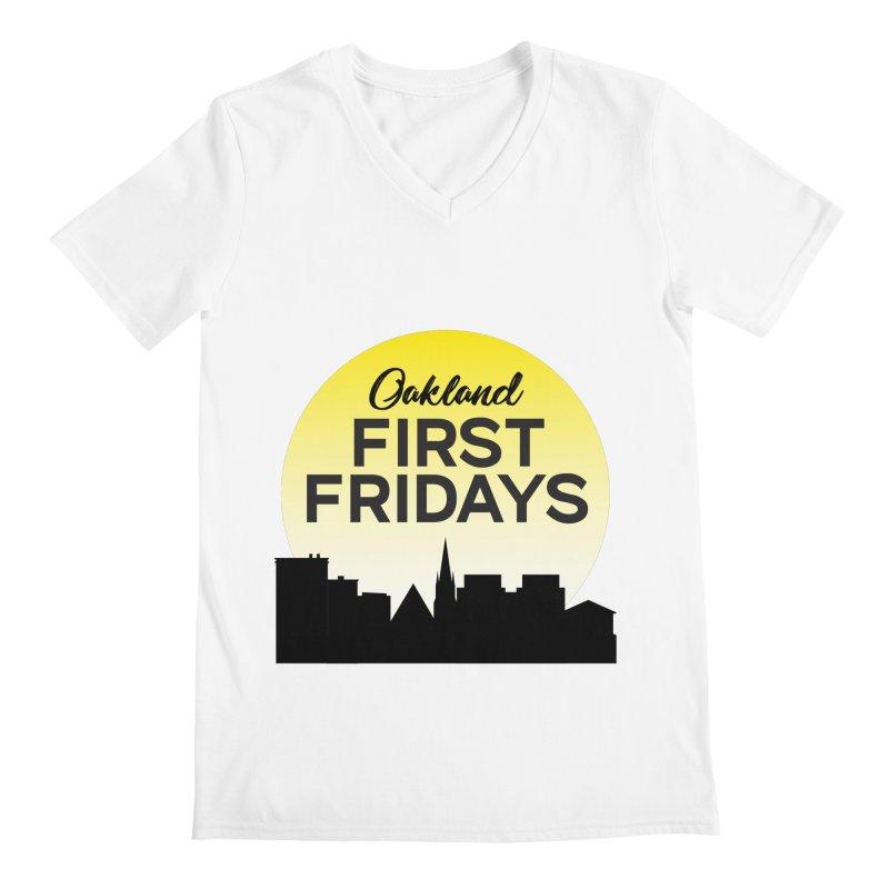 Oakland First Fridays (Sundown Logo) Men's V-Neck by Oakland First Fridays Store