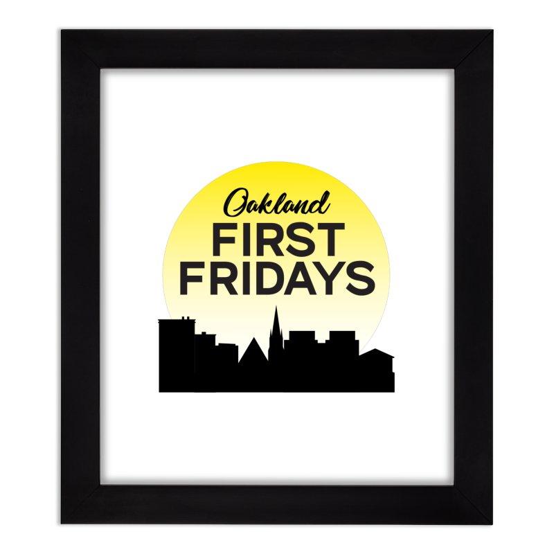 Oakland First Fridays (Sundown Logo) Home Framed Fine Art Print by Oakland First Fridays Store