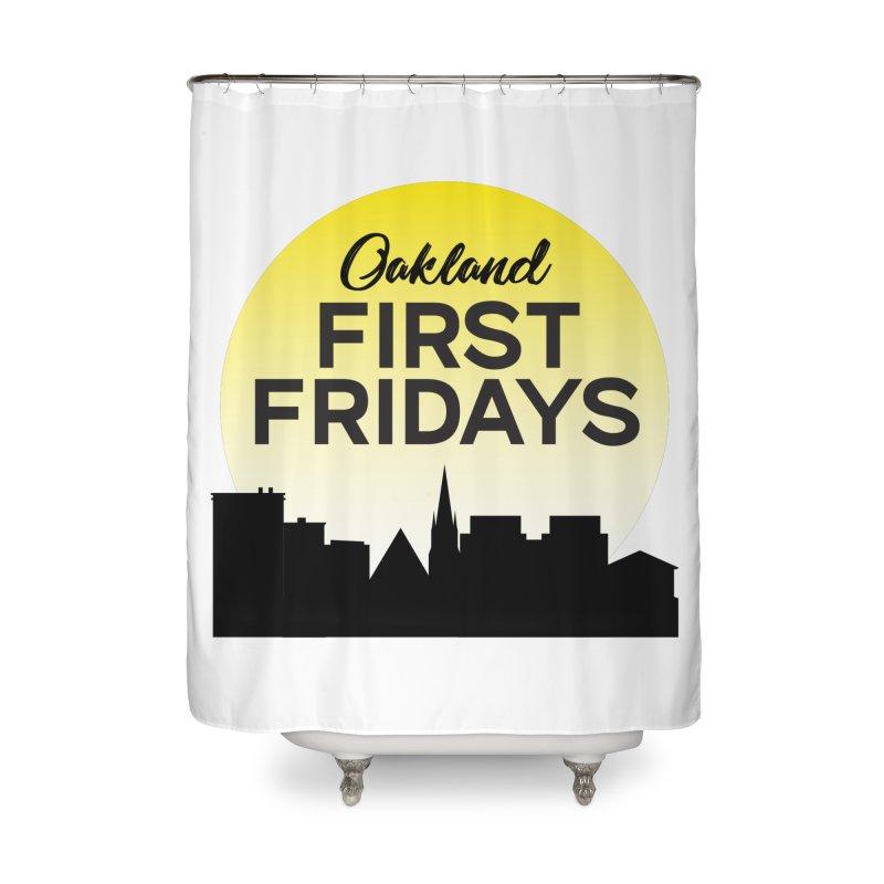 Oakland First Fridays (Sundown Logo) Home Shower Curtain by Oakland First Fridays Store