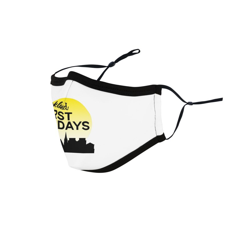 Oakland First Fridays (Left Sundown Logo) Accessories Face Mask by Oakland First Fridays Store