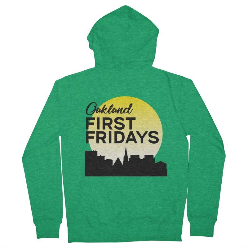Oakland First Fridays (Left Sundown Logo) Women's Zip-Up Hoody by Oakland First Fridays Store