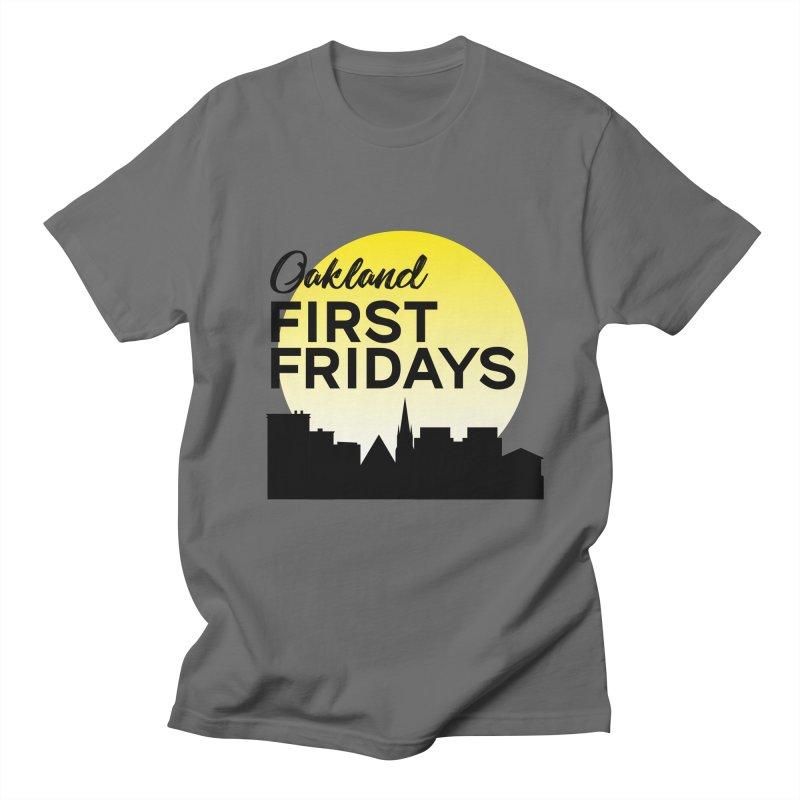 Oakland First Fridays (Left Sundown Logo) Men's T-Shirt by Oakland First Fridays Store