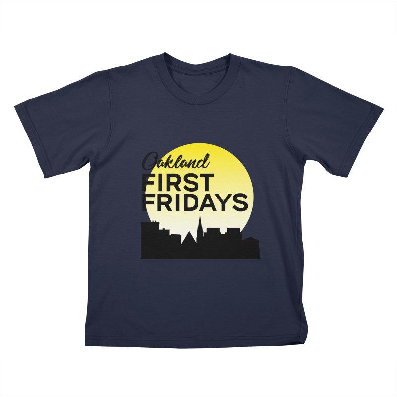 Oakland First Fridays (Left Sundown Logo) Kids T-Shirt by Oakland First Fridays Store