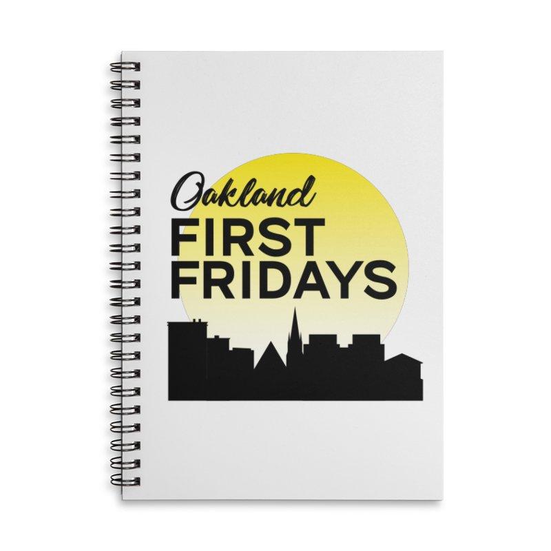 Oakland First Fridays (Left Sundown Logo) Accessories Notebook by Oakland First Fridays Store