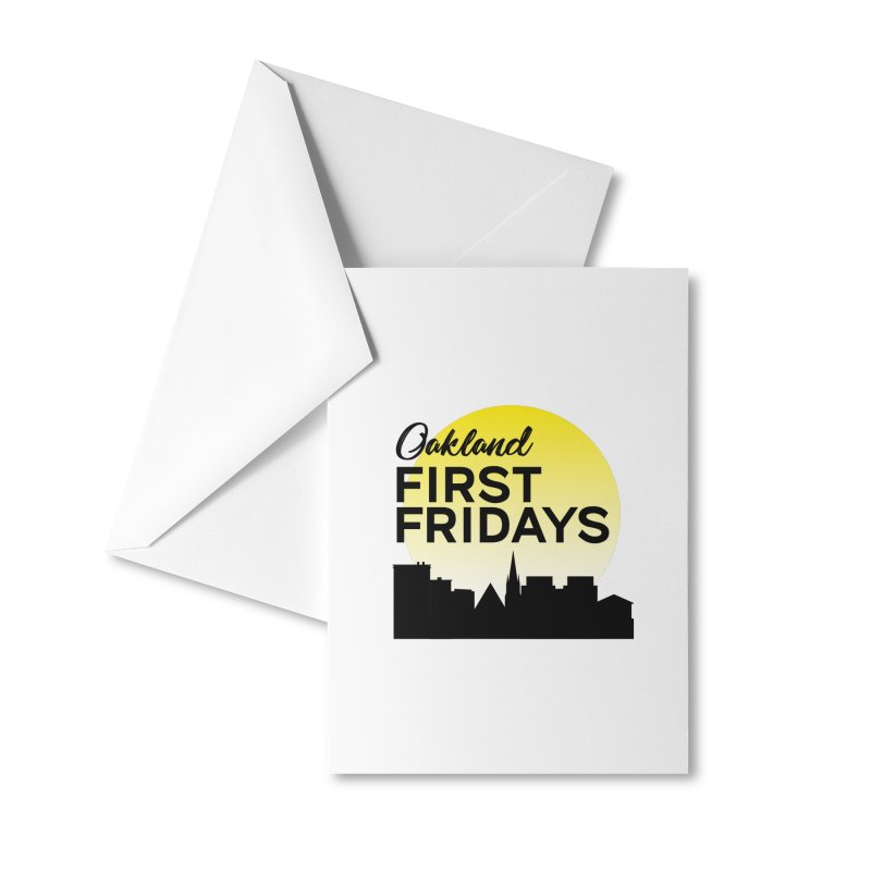 Oakland First Fridays (Left Sundown Logo) Accessories Greeting Card by Oakland First Fridays Store