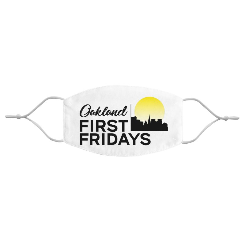 Oakland First Fridays (Text Logo) Accessories Face Mask by Oakland First Fridays Store