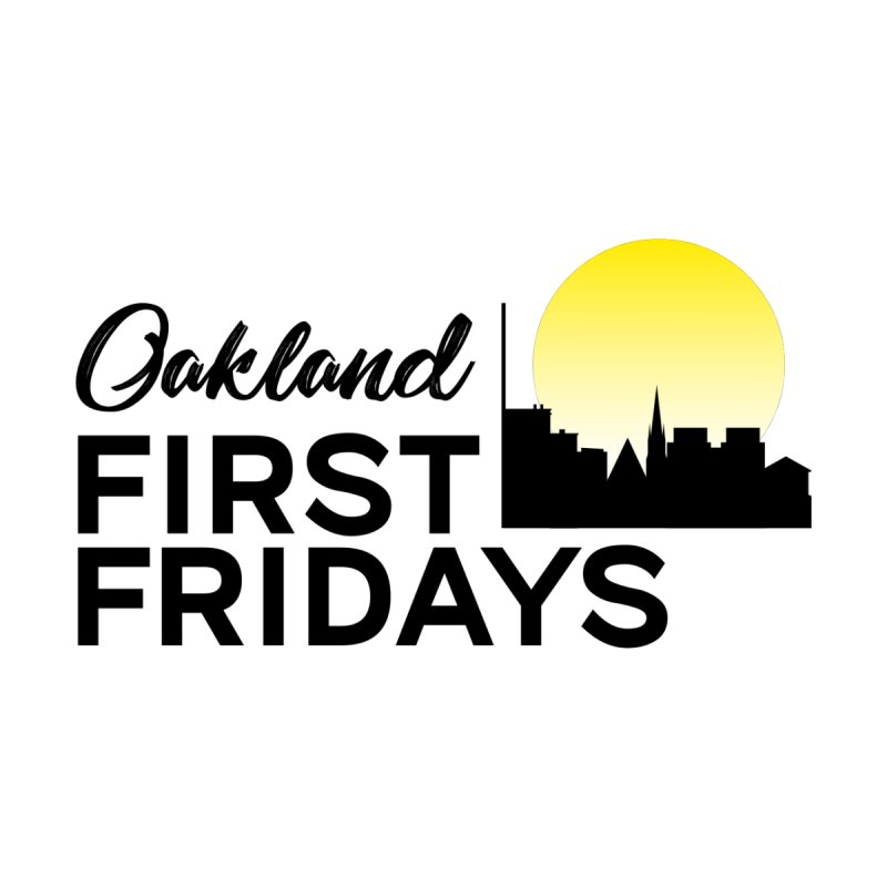 Oakland First Fridays (Text Logo) Accessories Bag by Oakland First Fridays Store